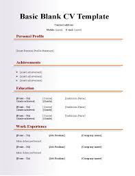resume blank template blank resume form exle of simple format exles basic within