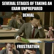 Test Taking Meme - the several stages of taking an exam unprepared by micosenchou2 0