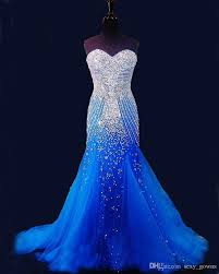 royal blue tulle 2016 royal blue mermaid prom dresses beaded special occasion