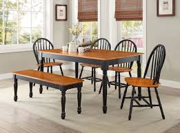 black dining room table set better homes and gardens autumn farmhouse 6 dining set