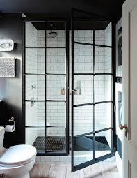 trendy bathroom shower idea steel framed enclosures apartment