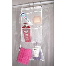 Portable Shower Curtain Rod Hanb Mesh Shower Caddy Organizer Hang On Shower Curtain Rod Liner