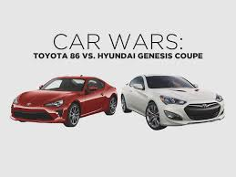 hyundai genesis car wars toyota 86 vs hyundai genesis coupe toyota motors