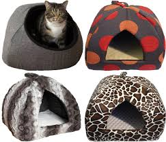 Hooded Dog Bed Rosewood Grey Tweed Hooded Cat Bed