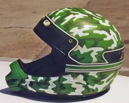 camo motocross helmet helmet airbrush