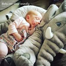 Childrens Bedroom Pillows Soft Baby Elephant Pillow Children Sleeping Cushion Room Baby