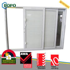 Blinds For Upvc French Doors - china sound insulation upvc plastic steel sliding glass door with
