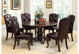 7 pc dining room set bellagio brown cherry finish formal 7 dining room