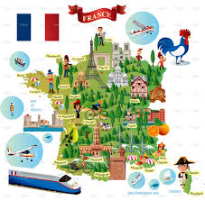 France On Map Cartoon Map Of France On Behance