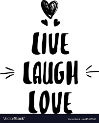 live laugh love lettering modern calligraphy live laugh love vector image