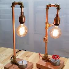 copper pipe light fixture industrial copper pipe l workshop with brass fittings