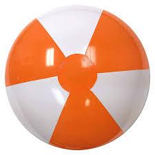 20 inch orange white balls get balls customized