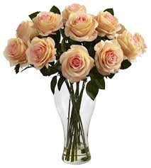 artificial roses blooming roses with vase contemporary artificial flower