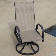 Sling Back Patio Chairs Decent Zoom Grosfillex Belize Midback Resin Fing Sling Bronze Mist