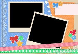scrapbook vintage polaroid frames download free vector art