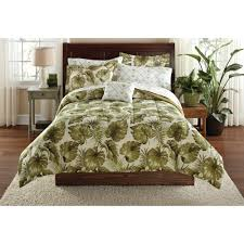 Palm Tree Bedspread Sets Mainstays Palm Grove Bed In A Bag Coordinated Bedding Set