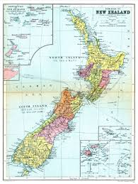geography blog political map of new zealand