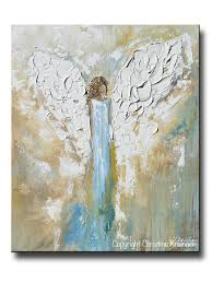 print angel painting abstract guardian angel inspirational wall
