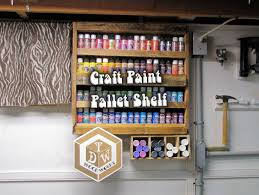 Paint Pallet by My Craft Paint Pallet Storage Shelf Youtube