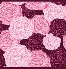 Burgundy Flowers Burgundy Floral Pattern Royalty Free Vector Image