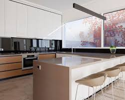 Glass Backsplashes For Kitchens Black Glass Backsplash Houzz