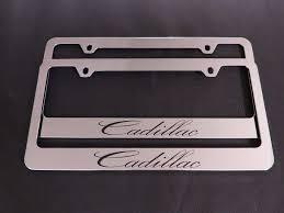 lexus f sport black steel license frame 2 cadillac stainless steel metal chrome license plate frame