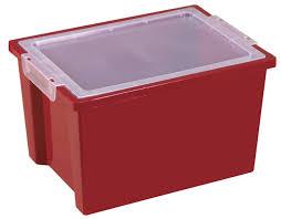 storage bins homz 64 qt plastic storage tote clear