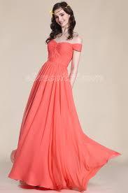 the shoulder bridesmaid dresses shoulder coral bridesmaid dress edressit