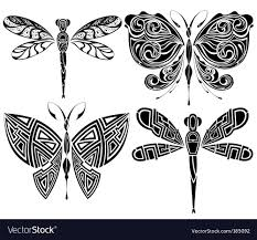 butterfly tribal royalty free vector image
