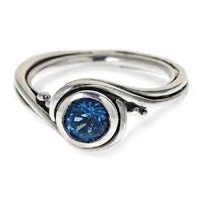 blue topaz engagement rings london blue topaz engagement ring pirouette metalicious
