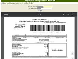 impuestos vehiculos valle 2016 instrucciones para liquidar el impuestos vehicular en el
