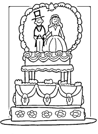 wedding cake coloring page coloring pages