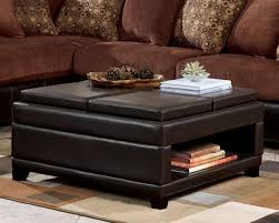 Storage Ottoman Coffee Table Coffee Table Attractive Brown Leather Ottoman Coffee Table Storage