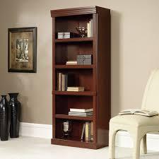 Sauder Premier 5 Shelf Composite Wood Bookcase Sauder Heritage Hill 5 Shelf Library Bookcase Cherry Walmart