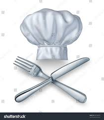 chef hat knife fork silverware food stock illustration 99234878