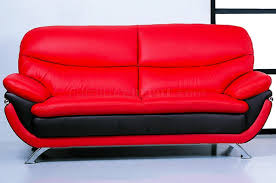 North Carolina Upholstery Furniture And Red Top Grain Leather Upholstery Sofa