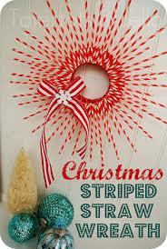 make a striped paper straw wreath christmas tutorial straw