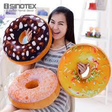 creative super soft pillow simulation chocolate donut cushion