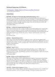 course descriptions mechanical engineering documents