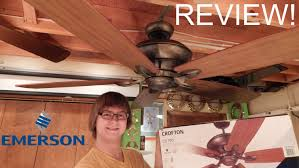 product review emerson crofton ceiling fan youtube