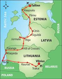 Baltic States Map Travel Map Baltic States Globetrotter Travel Map Kindle Books