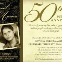 Wedding Anniversary Program 50th Wedding Invitation Mkrs Info