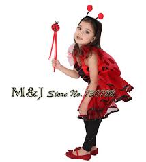 free shipping pretty girls red ladybug halloween cosplay costume