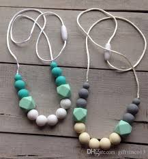 silicone bead necklace images 2018 bpa silicone teeth hexagon necklaces baby silicone teething jpg