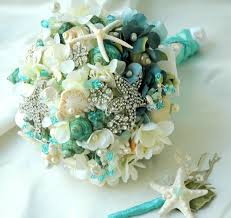 wedding bouquets with seashells sea shell bridal bouquet seashell bouquet blue bridal