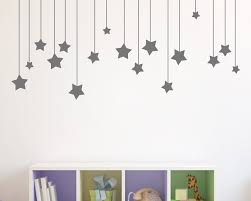 star wall sticker sticker creations 17pcs hanging stars wall stickers for kids room white star baby