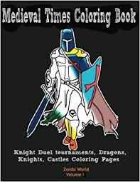 amazon medieval times coloring book knight duel tournaments