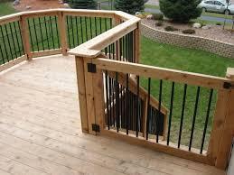 deck gate custom cedar deck u0026 gate shakopee mn backyard ideas