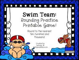 swim meet printable rounding game