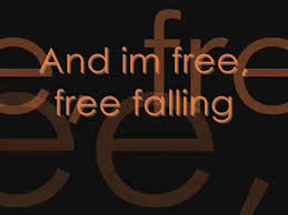 tom petty free falling lyrics on screen